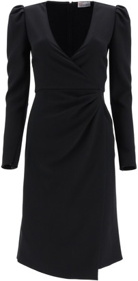 RED Valentino CREPE DOUBLE STRETCH DRESS 40 Black