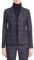 Nordstrom Women's And Caroline Issa Wool, Silk & Linen Plaid Jacket