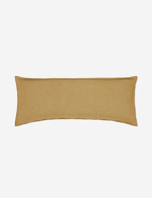 Lulu & Georgia Arlo Linen Long Lumbar Pillow, Marigold