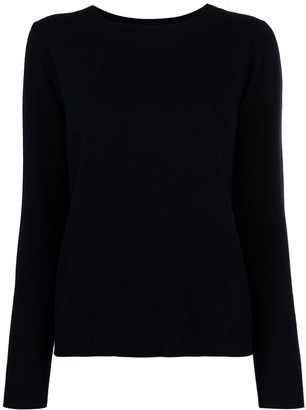 Allude Crew-Neck Fine-Knit Jumper