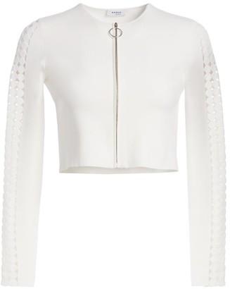 Akris Punto Modern Lace Insert Jacket