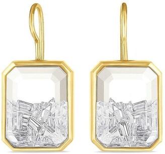 Moritz Glik 18kt yellow gold Esmeralda diamond shaker earrings