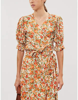 Faithfull The Brand Mali floral-print rayon wrap top
