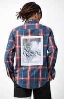 The Hundreds Fremont Plaid Flannel Long Sleeve Button Up Shirt