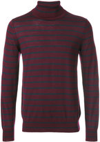 Closed striped roll neck jumper