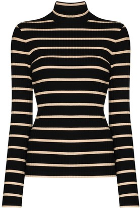 Ninety Percent Striped Roll Neck Top
