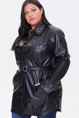 Forever 21 Plus Size Faux Leather Jacket
