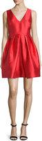Erin Fetherston Sleeveless V-Neck Party Dress, Vermillion