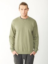Alternative Light French Terry Quilted Crew Sweatshirt