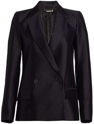 Givenchy Double Breasted Wool & Silk Blazer