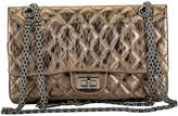 One Kings Lane Vintage Chanel Argent Fonce' Reissue Double Flap - Vintage Lux - argent fonce/ruthenium