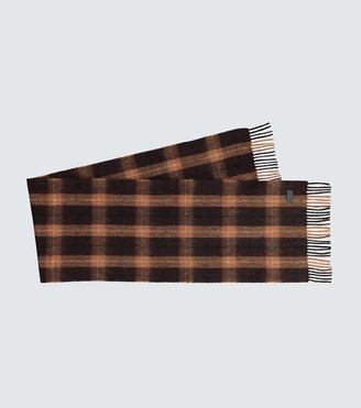 Saint Laurent Fringed wool scarf