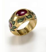 Amrita Singh Saleem 18K Yellow Gold, Ruby & Emerald Ring