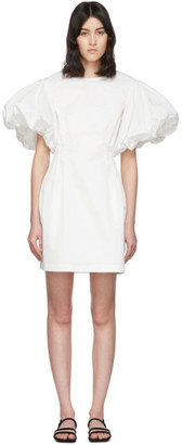 Edit White Balloon Sleeve Short Dress