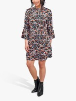 Thumbnail for your product : Little Mistress Ditsy Floral Frill Collar Shift Dress, Black/Multi