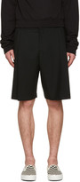 McQ by Alexander McQueen Black Kilt Shorts