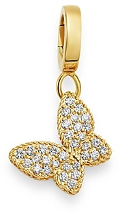 Roberto Coin 18K Yellow Gold Diamond Butterfly Charm
