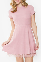 Sugar Lips Sugarlips Dusty Pink Dress