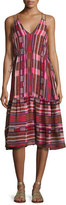 Apiece Apart Daphne Striped Sleeveless Midi Dress, Multicolor