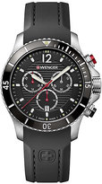Wenger Seaforce Chrono Men's Black Silicone Strap Watch