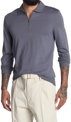 Reiss Swinton Zip Long Sleeve Knit Polo