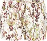 Haute Hippie Floral-print silk-organza shorts