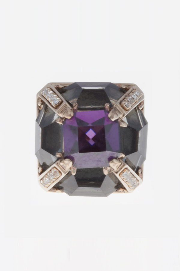 Juicy Couture PURPLE COCKTAIL RING