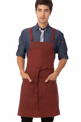 Chef Works Unisex Uptown Cross-Back Bib Apron
