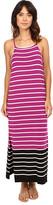 Vince Camuto Sleeveless Magnet Stripe Dress w/ Side Slits