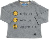 Fay Smile Printed Cotton Jersey T-Shirt