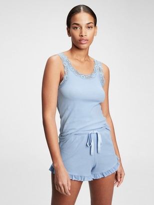 Gap Forever Favorite Ribbed Lace Tank Top