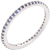 Ila Women's Rainbow 18K White Gold & 0.38 Total Ct. Blue Sapphire Eternity Band Ring