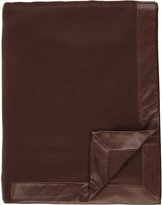 Barneys New York Leather-Bordered Cashmere Throw-BROWN