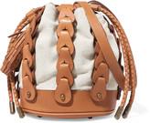 Zimmermann Leather and canvas shoulder bag
