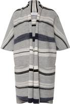 Derek Lam 10 Crosby Menswear Blanket Stripe Short Sleeve Cardigan