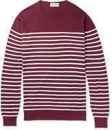 John Smedley - Redfree Striped Sea Island Cotton Sweater