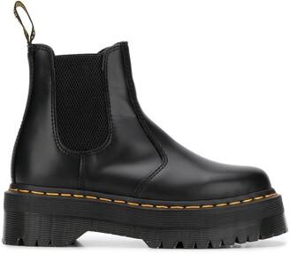 Dr. Martens Contrast-Stitch Ankle Boots