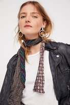 Vintage Silk Short Tie Skinny Scarf by Debe Dohrer at Free People