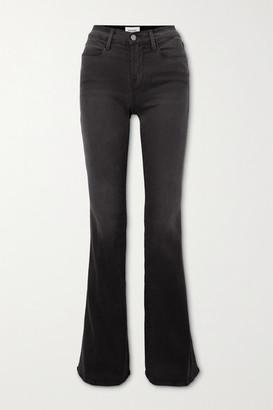 Frame Le High Flare Jeans - Black