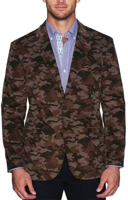 Tailorbyrd Patterned Corduroy Textured Two Button Notch Lapel Modern Fit Sport Coat