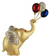 Stars & Stripes Products Balloon Patriotic Crystal Elephant Pin/Brooch