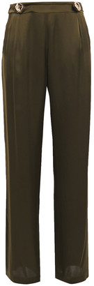 Mother of Pearl Bridget Satin Wide-leg Pants