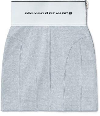 Alexander Wang Logo Elastic Mini Skirt