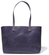 Clare Vivier Suki Matte-leather Tote - Midnight blue