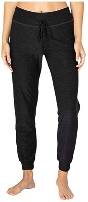 Beyond Yoga Luxe Lounge Around Midi Joggers (Black) Women's Casual Pants