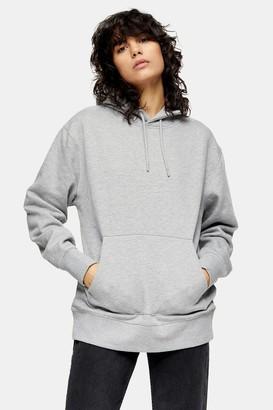 Topman Womens Grey Peached Hoodie - Grey