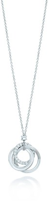 Tiffany & Co. 1837TM interlocking circles pendant in 18k white gold with diamonds