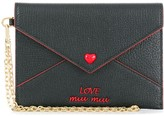 Miu Miu Love embroidered envelope pouch