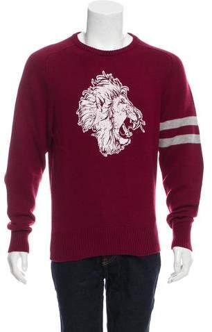 Michael Bastian Lion Print Cashmere Sweater w/ Tags