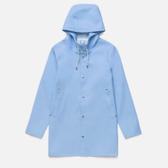 Stutterheim Light Blue/Lavender Stockholm Raincoat - L - Blue/Purple